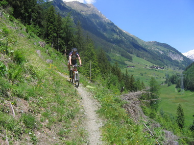Singletrack in het Defereggental
