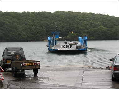 ferry over Tresillian River