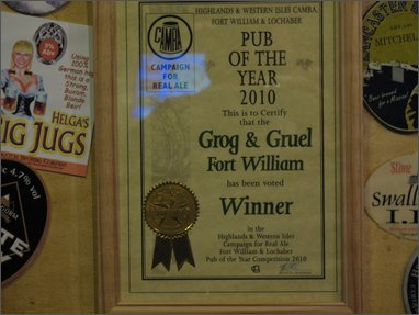 pub of the year: the Grog & Gruel (Fort William)