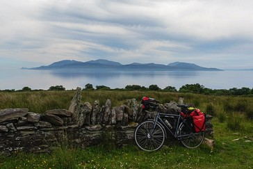 Ardlamont Point on south Cowall with view on Kintyre coast