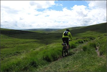 mountainbike op Dartmoor